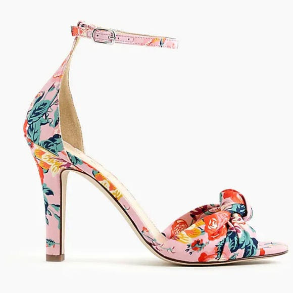 67fcafda445 NIB J.Crew Pink Liberty Knotted High-heel Sandals
